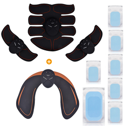 EMS Hip Trainer Wireless Muscle ABS Stimulator Smart Fitness Abdominal Muscle Trainer Body Slimming Massager With Extra Gel Pads
