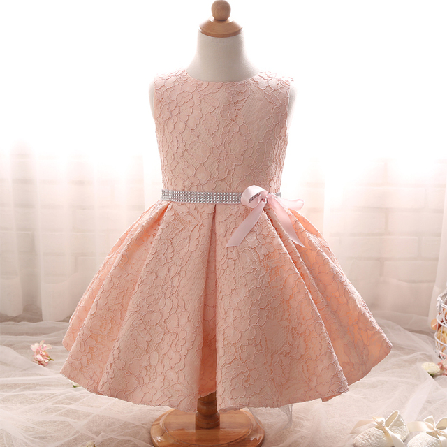 a92ff48ae5b Pink Lace Flower Girl Dresses Kids Pageant Gowns Cute First Communion  Dresses Kids Evening Gowns Cheap