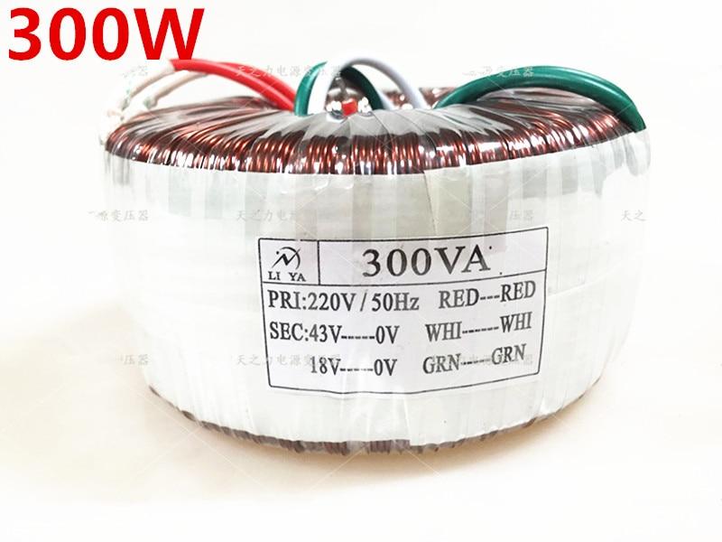 300W toroidal transformer Customizable voltage 220V 110V 0-43V 0-18V 300VA  other Voltage Power amplifier transformer