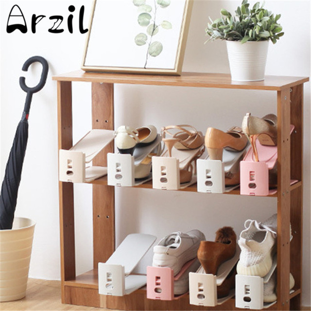 Modern Double Cleaning Shoes Storage Rack Practical Shoe Organizer Stand Shelf Home Balcony Drying Shoe Windproof & Modern Double Cleaning Shoes Storage Rack Practical Shoe Organizer ...