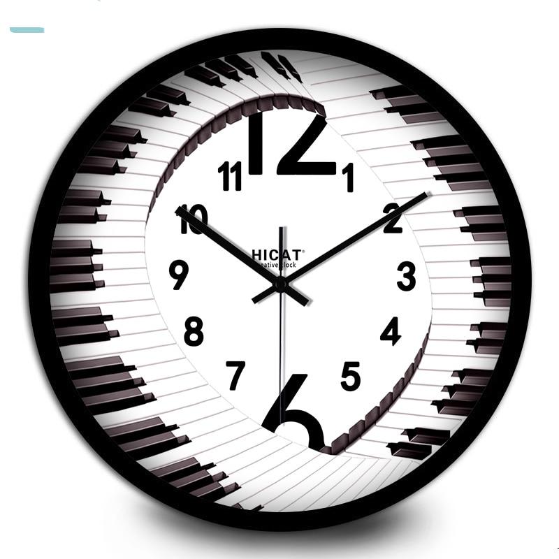 Fun irregular digital home wall clock Modern fashion art ...