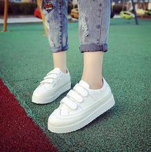 2016 Mujer Aumentar Talón Otoño Estilo Ocasional Estudiante Zapatos de Mujer Zapatillas Deportivas