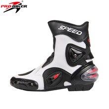 Pro-biker de cuero de microfibra medio-altos cargadores de la motocicleta moto off road motocross zapatos moto racing botas botas de motocicleta