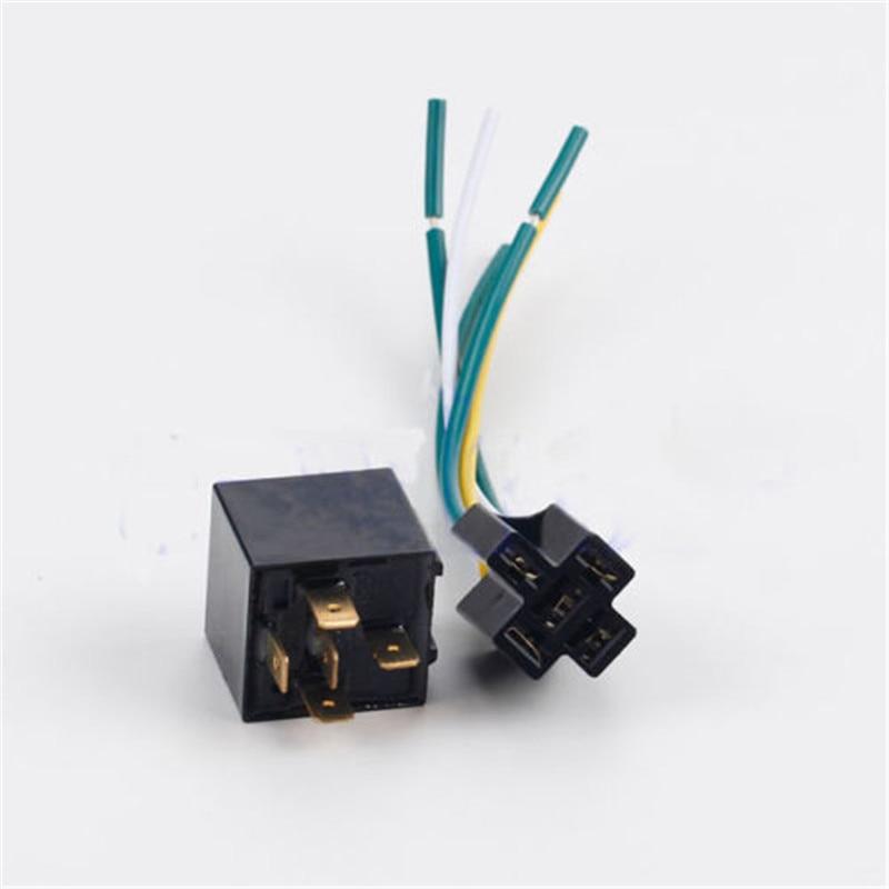 5 pin 5 wire 1 set car auto truck 12v 12 volt dc 40a amp. Black Bedroom Furniture Sets. Home Design Ideas