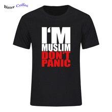 ใหม่แบรนด์Mens T SHIRT I AMมุสลิมไม่PANICอิสลามมุสลิมพิมพ์ผ้าฝ้าย 100% ฤดูร้อนPlusขนาดXS 3XL