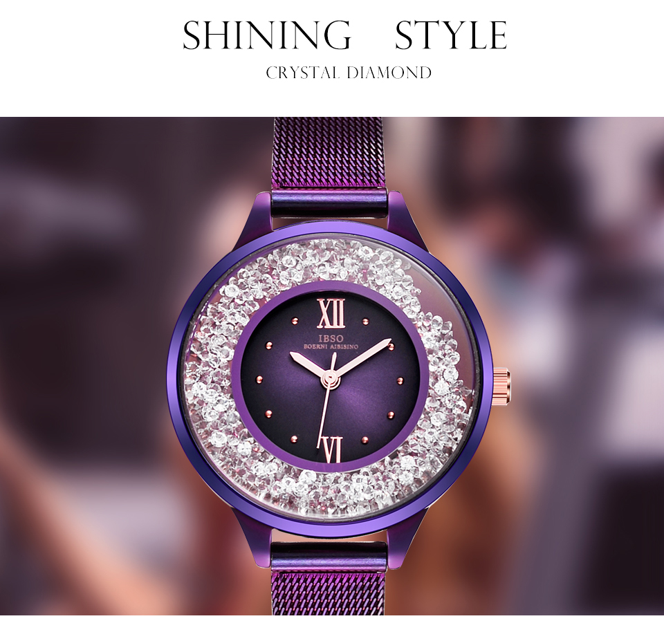 IBSO Brand Women Fashion Watch 2018 Mesh Strap Watch Female Watch 01