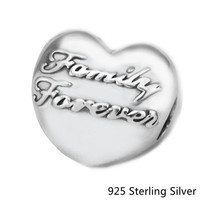 Authentic 925 Sterling Silver Family Union Clip Fashion Charms Beads Fits DIY Bracelets