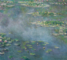 Water Lilies Oil Painting by Claude Monet Canvas Wall Artworks Reproduction Wholesale