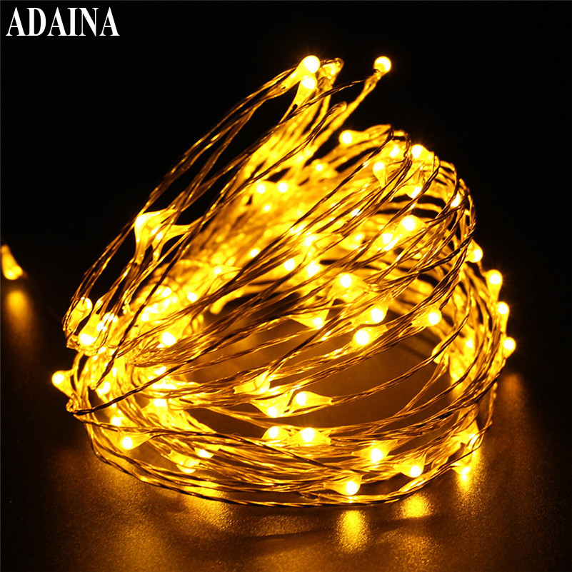 Engros Christmas10M 100 Leds Kobber Wire LED String Light 3AA Batteri Fairy String Lights Lamps For Holiday Wedding Party