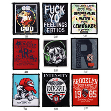 Cartoon Alphabet Dog Patch Sewing On Embroidered Patches for Jacket Vest DIY Apparel Accessories Applique embroidery patch badge