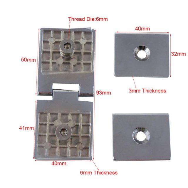 Online Shop Frameless Glass Hinge Clamp Cupboard Glass To Glass Door