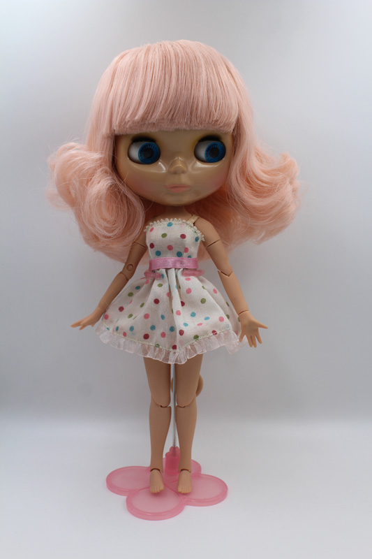 Free Shipping BJD joint RBL-253J DIY Nude Blyth doll birthday gift for girl 4 colour big eyes dolls with beautiful Hair cute toyFree Shipping BJD joint RBL-253J DIY Nude Blyth doll birthday gift for girl 4 colour big eyes dolls with beautiful Hair cute toy