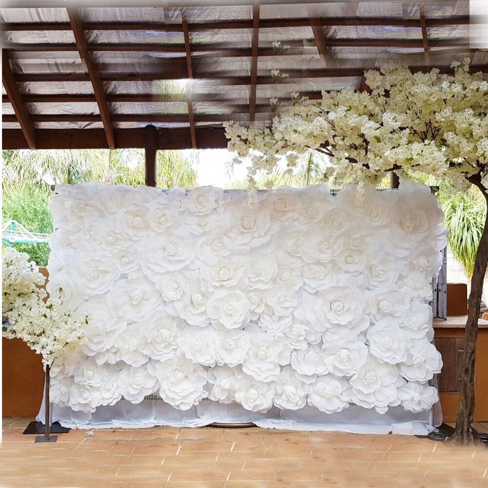 Grandes flores falsas de espuma Rosas artificiales Conjunto de estilo - Para fiestas y celebraciones - foto 2