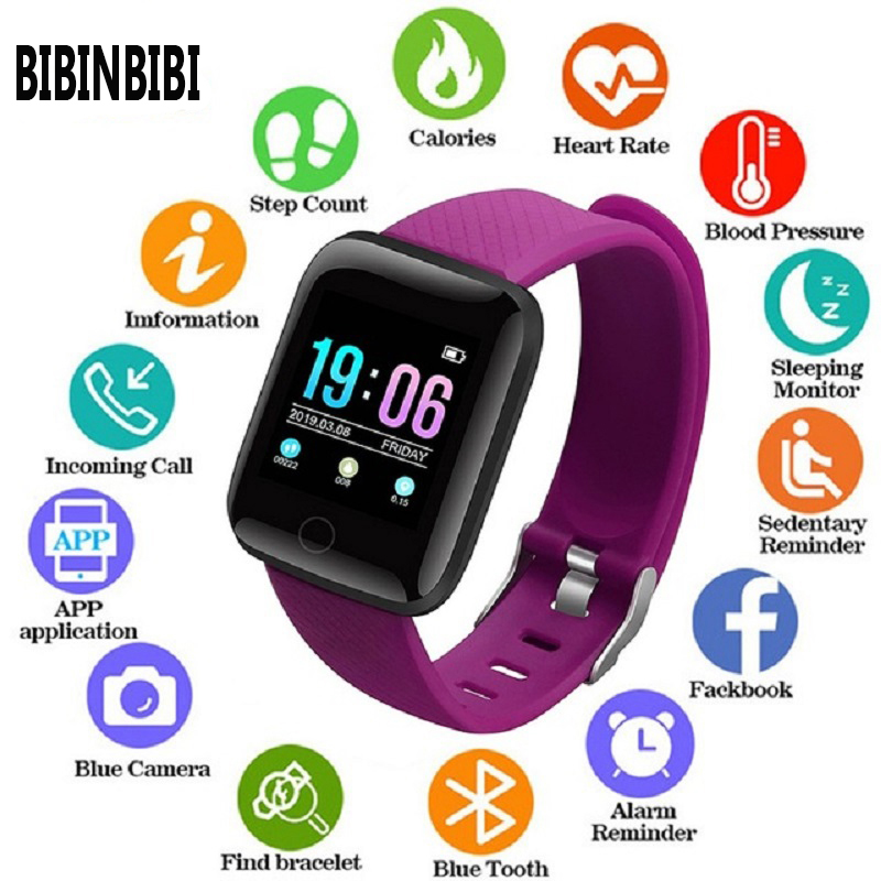 2019 Man Women Smart Watches Waterproof Smart Watch Heart Rate Monitor Blood Pressure Functions Sport Watch For Ios Android +BOX
