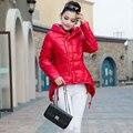 Novo 2017 Mulheres Casacos de Inverno Da Moda Coreana Slim Com Capuz Para Baixo Casacos de Algodão Outono das Mulheres Plus Size Outwear Parkas Feminino jaqueta