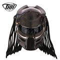 Predator Carbon Fiber Motorhelm Volledige Gezicht Iron Warrior Man Helm DOT Veiligheidscertificering Hoge Kwaliteit Zwart Kleurrijke