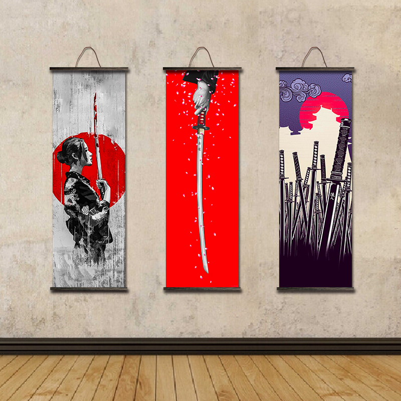 Us 7 14 18 Off Japan Style Canvas Hanging Painting Japanese Ukiyoe Posters And Prints Home Decoration Art Wall Pictures For Living Room In Painting