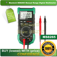Mastech MS8265 Manual Range Digital Multimeter for AC/DC Voltage Current Test with Ohm Capacitance Frequency Measurement