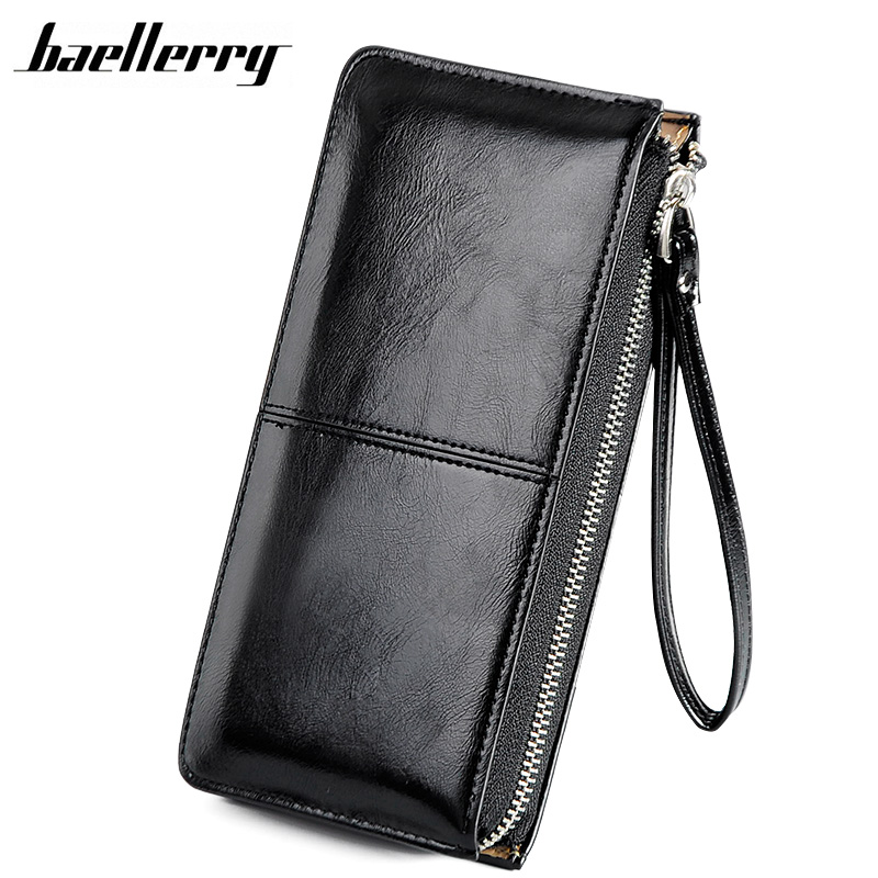 Baellerry Women Wallets Long Candy Oil Leather Wallet Day Clutch New Fashion Women's Purse Female Coin Clutch Card Holder yuanyu new hot free shipping card bag real thailand crocodile leather long wallet female fashion women day clutche purse