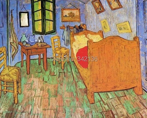 Vincents Schlafzimmer In Arles Durch Van Gogh Handbemalt
