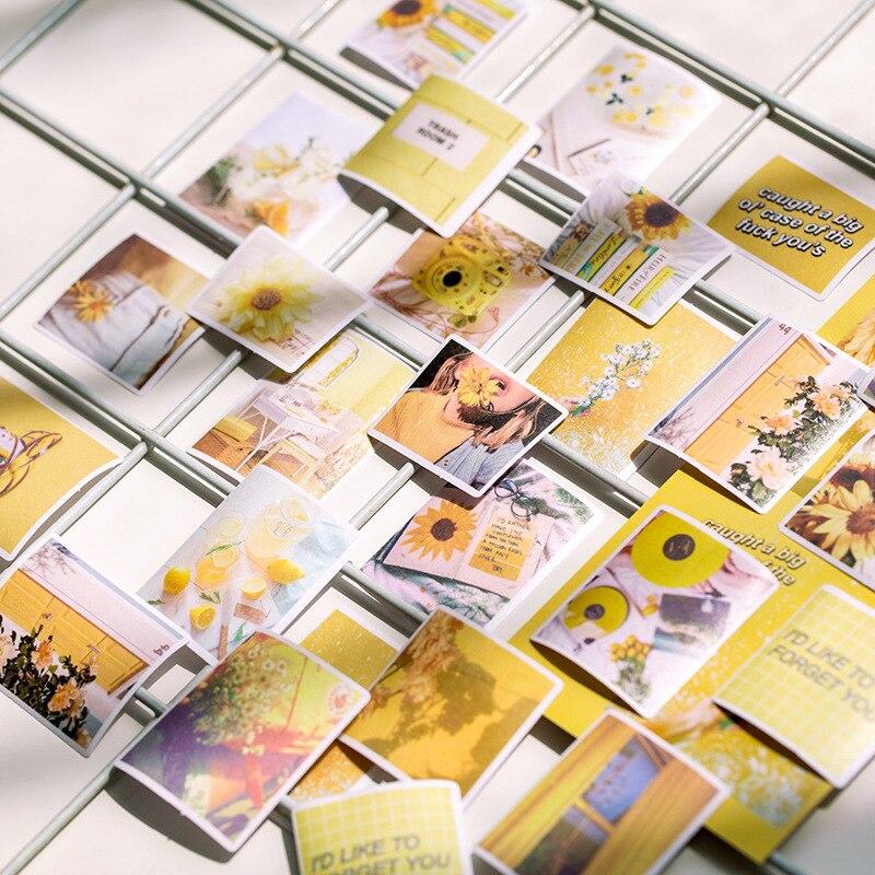 Image 2 - 60 шт/1 упаковка Kawaii Канцтовары наклейки память время дневник планировщик декоративные мобильные наклейки Скрапбукинг DIY ремесло наклейкиКанцелярские наклейки    АлиЭкспресс