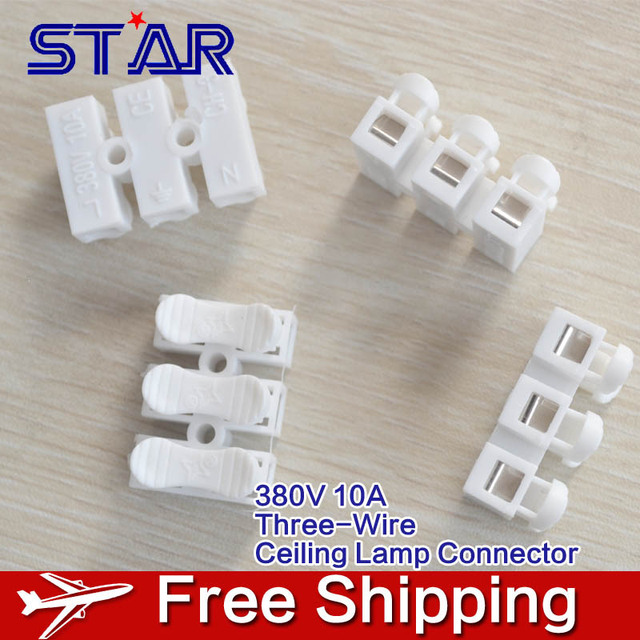 30pcs/lot New Design Clip Three Wire Spring Connector LED Strip ...