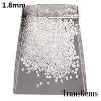 TransGems 1.8mm=0.025 carat Total 1 CTW F Color Lab Grown Moissanite Diamond Loose Beads about 40PCS