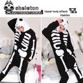 Free Shipping Halloween Skull Couple Skeleton Cosplay Costume Suits Onesie Pyjamas Pajamas Sleepwear Party One Piece