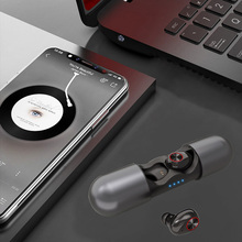Bluetooth 5.0 earphones High Quality Real Stereo Headset Wireless for smart phone V8 Two-channel