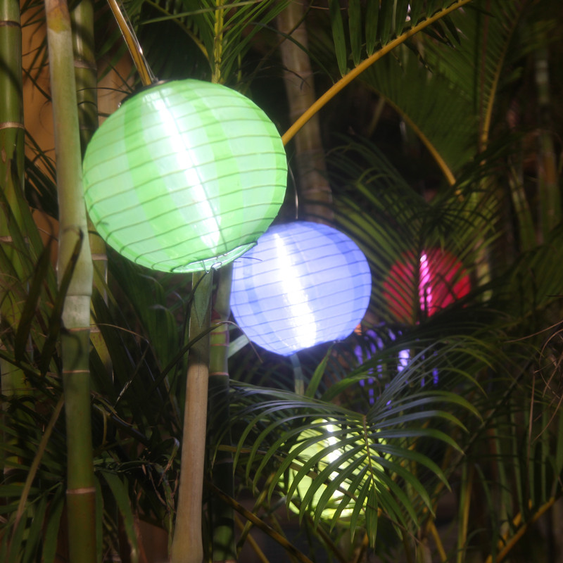 Us 42 32 Pearlstar 5pcs 5 Colors Lantern Ball Decorative Solar Lights Led Lamp Outdoor Lighting Landscape Holiday Hang Lamps In
