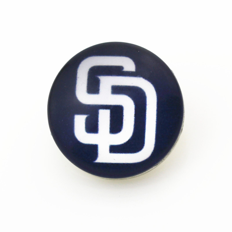 10pcs USA San Diego Padres Snap buttons Glass 18m Baseball Sports snaps button Diy Snaps Jewelry Bracelet&bangles charms