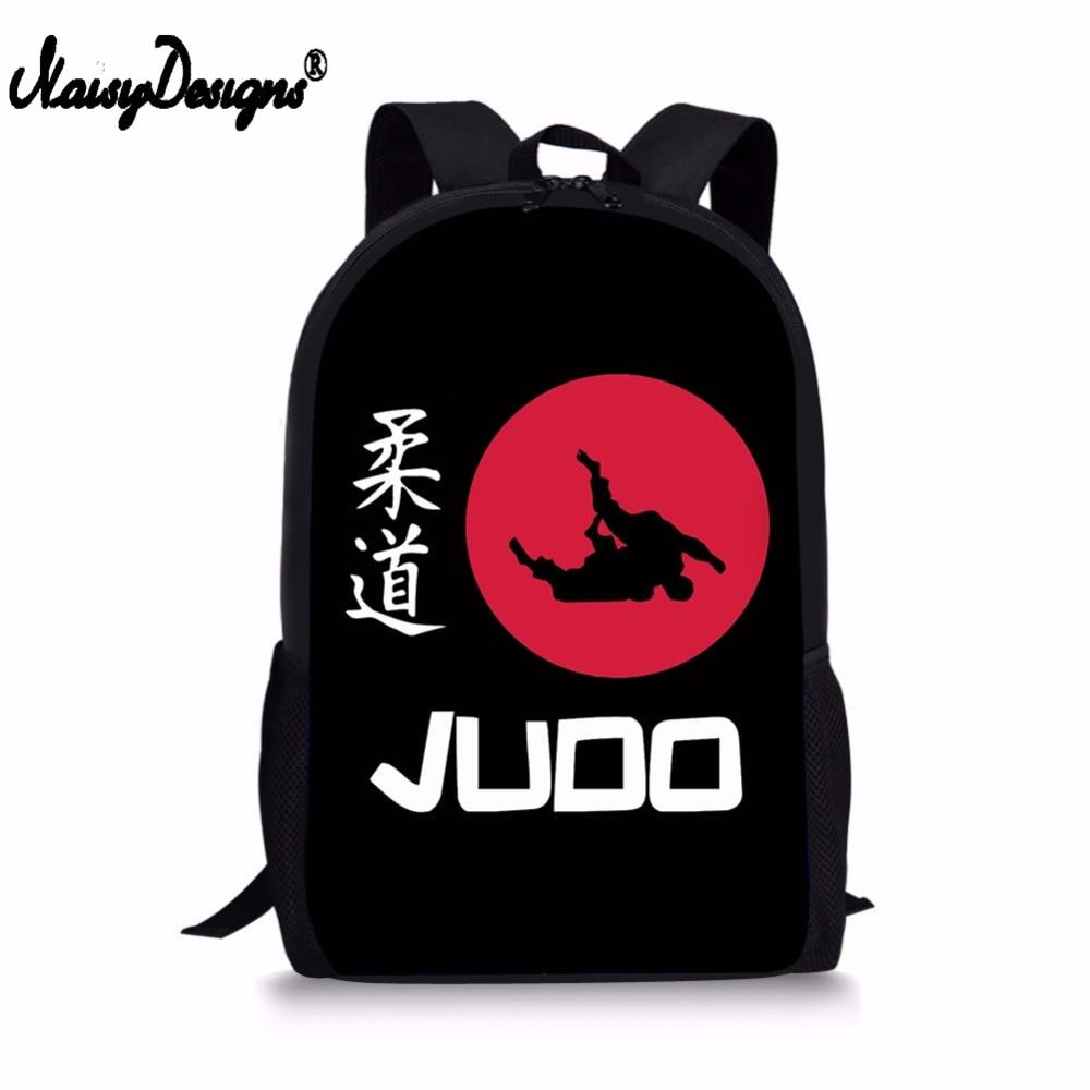 NOISYDESIGNS Cool Martial Arts JUDO Design Printing Backpack For Boys Girls 3D School Supplies Women Bags Men Laptop Rucksack