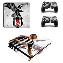 Turkey Football Besiktas BJK PS4 Slim Skin Sticker For Sony PlayStation 4 Console and Controller Decal PS4 Slim Sticker Vinyl