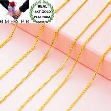 OMHXFC Wholesale European Fashion Woman Female Party Wedding Gift Long 70cm Slim Sweater Box Real 18KT Gold Chain Necklace NL12(China)
