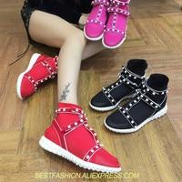 Модные носки белые с заклепками женские ботинки с заклепками и круглыми носами ботинки женская обувь полусапожки улице двигателя mujer zapatos с