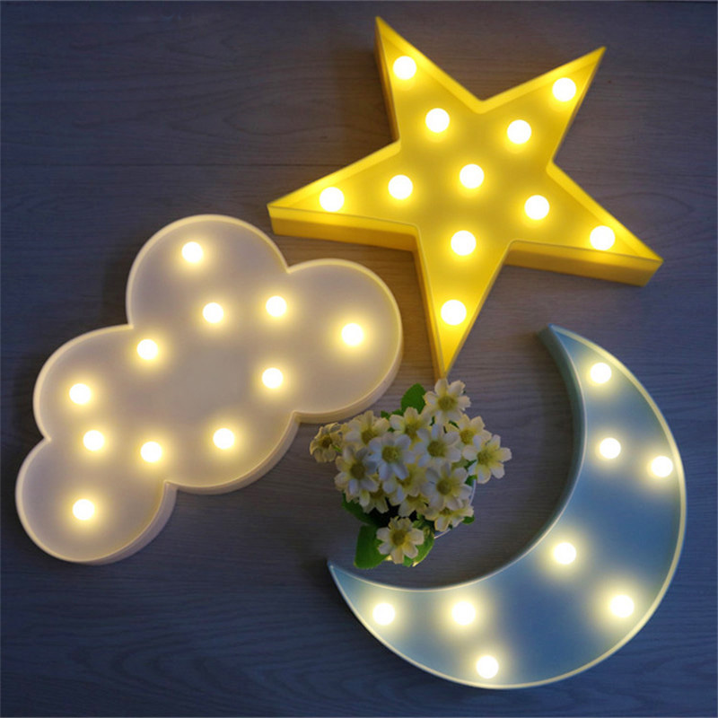Creative Cloud LED Night Light Lamps For Kid's Nursery