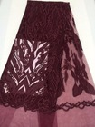 Wine Red Indian Lace...