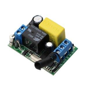 Image 4 - AC 220V 1CH ממסר אלחוטי מרחוק מערכת מתג שלט רחוק מתג 10A מקלט + עמיד למים משדר 315Mhz/433Mhz