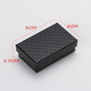 Image 2 - 32pcs Jewelry Box 8x5CM Necklace Ring Box for Jewelry Multi Colors  Jewelry Packaging Gift Boxes Earring Display Black Sponge