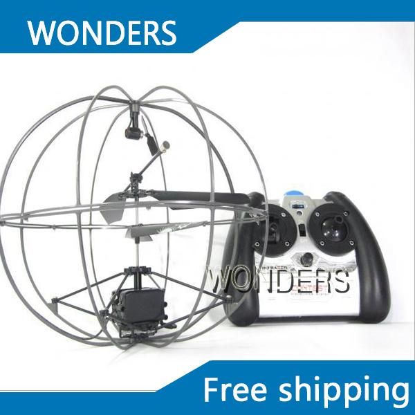 Frete grátis 3.5 canais giroscópio RC Mini helicóptero de controle remoto UFO aircraft fly bola