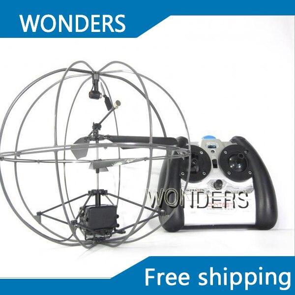 Livraison gratuite 3.5 canaux gyro RC Mini Hélicoptère avion UFO télécommande volée balle