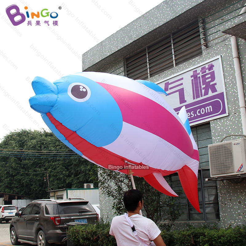 Personalized 10 feet long inflatable colorful fish costume / inflatable walking fish costume / inflatable handheld fish toysPersonalized 10 feet long inflatable colorful fish costume / inflatable walking fish costume / inflatable handheld fish toys