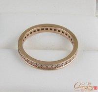 14K Rose Gold Natural 0 50ct Pave Set Diamond Eternity Wedding Band Ring