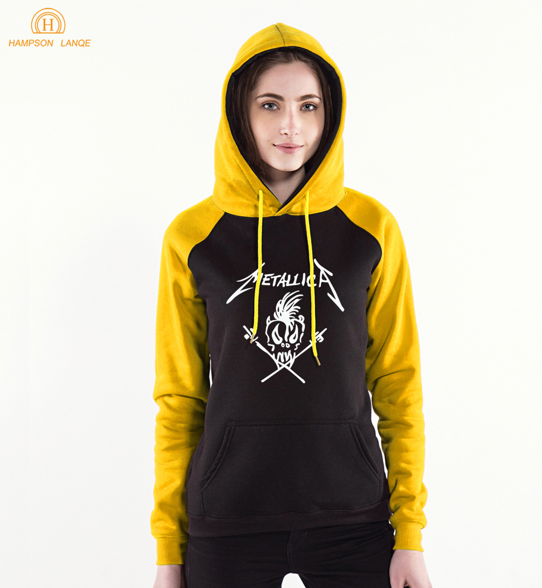 Thrash Metal Band Rock And Roll Hip Hop Women's Hoodies 2019 Spring Autumn Sweatshirts Women Punk Style Raglan Hoodie For Adult