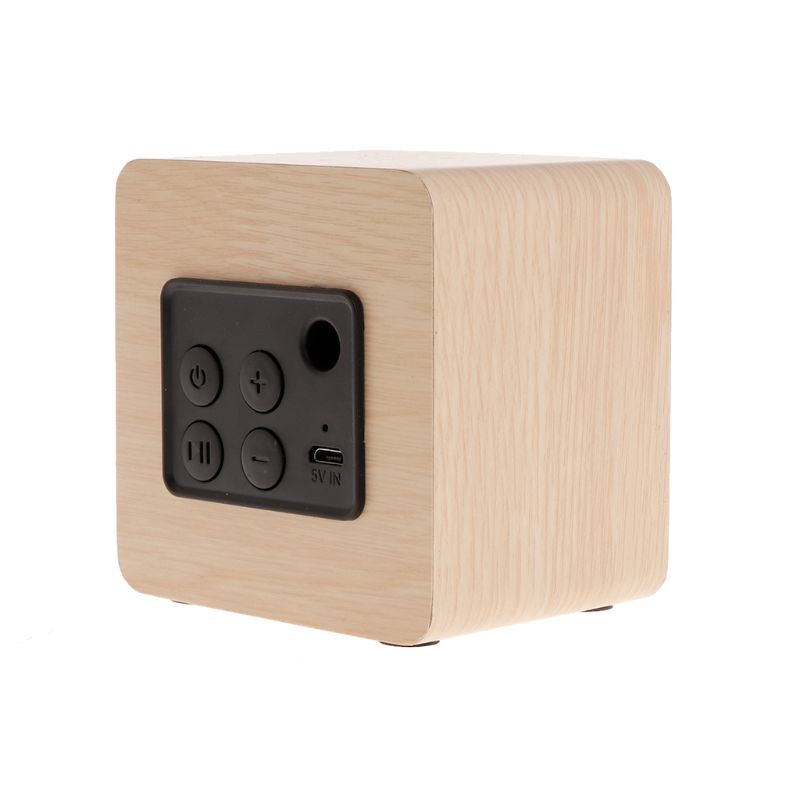 Portable Speakers Mini Wooden Bluetooth Speaker Portable Wireless Subwoofer Strong Bass Sound Box Music Magic Cube For Smartphone Tablet Laptop