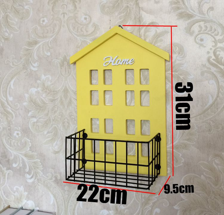 Rustic Vintage Wrought Iron Multicolor Small House Cafe Wall ...