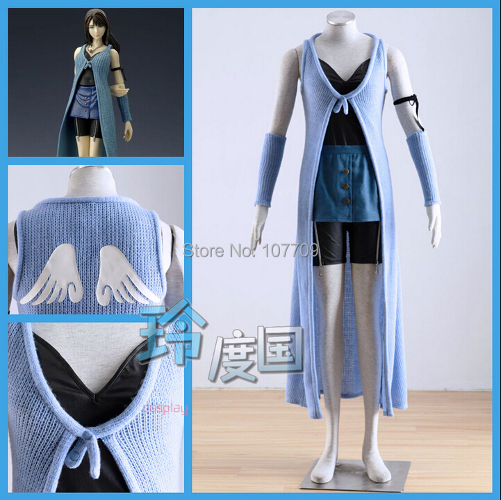 Final Fantasy VIII Rinoa Heartilly Halloween Christmas Cos Anime Party Cosplay Costume Uniform Suit Clothing