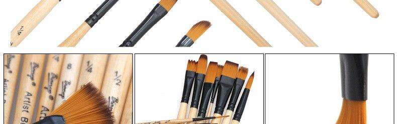 14 pces pincéis de pintura conjunto acrílico