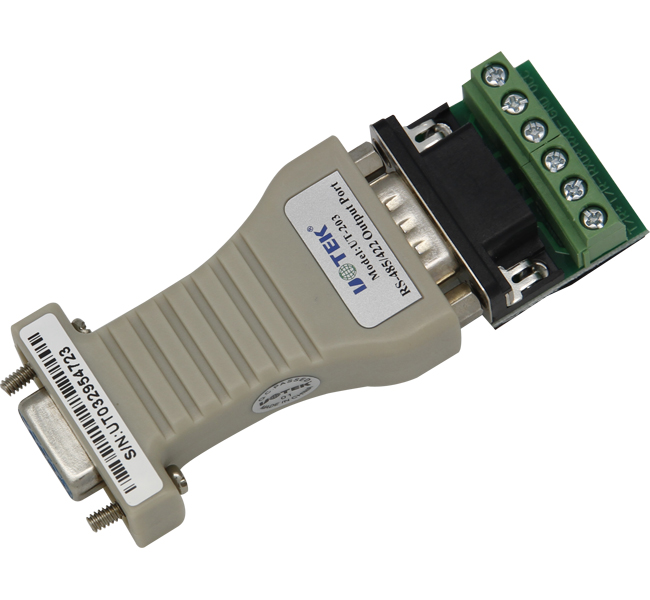 UT-203 RS232 to RS422 converter 485/422 RS232 converter switch 422 adapter hight quality mini rs 232 to rs 485 passive interface converter 485 converter db9 to 3 wire terminal adapter 1 2km