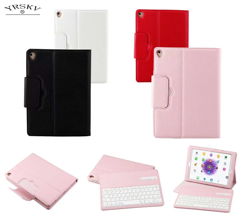 Case for iPad 9.7 inch 6th Air 1/2 Pro 9.7 YRSKV Magnetically Detachable Bluetooth Portfolio Keyboard PU Leather Protective Case стоимость